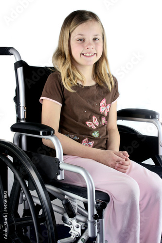 Special needs disabled girl