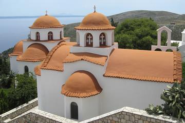 Kirchen in der Klosteranlage Agios Savvas, Kalymnos