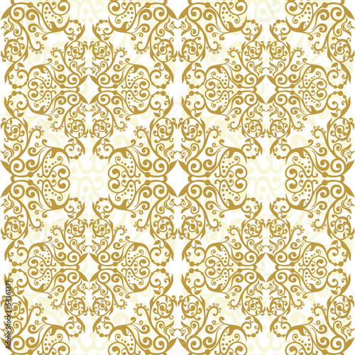 arabesque ornate floral seamless texture