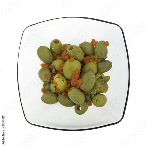 Olives Pimentos Dish Top
