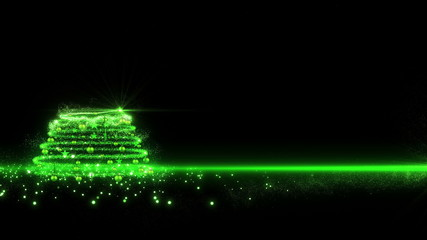 Green lights Christmas Tree