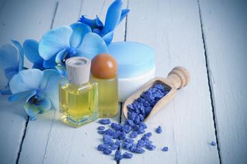 aromas y orquídea azul