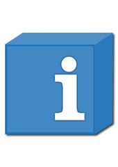 information symbol, box
