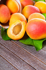 Fresh juicy apricots