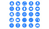 Dark Blue Internet Icons