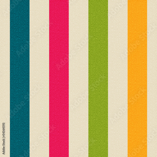 Fabric with colored stripes
