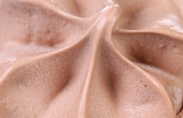 Background of chocolate ice cream.