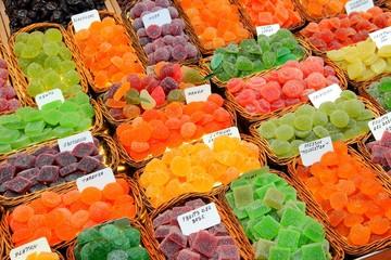Sweets at Boqueria Market in Barcelona