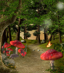 Enchanted nature series - Pathway in the magic forest