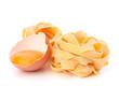 Italian egg pasta fettuccine nest