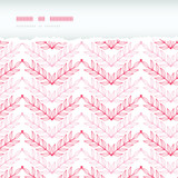 Vector Pink lineart leaves chevron horizontal torn seamless