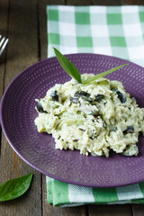 rice with steamed zucchini