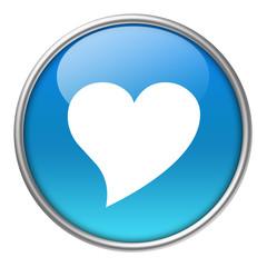 Bottone vetro cuore 2