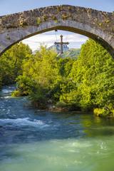 Roman stone bridge in Cangas de Onis
