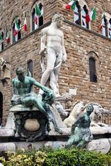 Fountain of Neptune in Piazza della Signoria in Florence