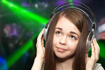 The girl on a disco