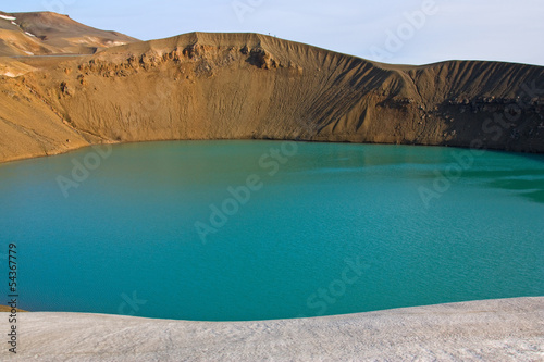 Maar (crater lake) in Iceland