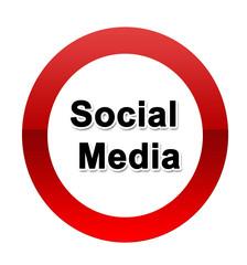 Social Media Verkehrsschild