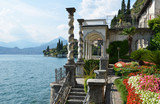 View to the lake Como from villa Monastero. Italy