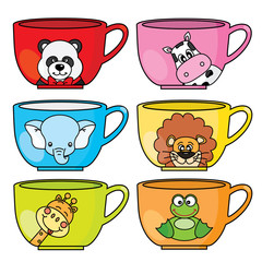 cups set with animal