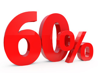 Red sixty percent off. Discount 60%