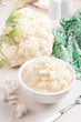Steamed and pureed cauliflower