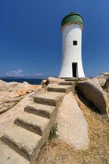 Palau Lighthouse in Sardinia, Italy