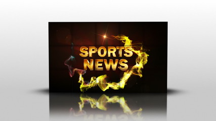 Sports News in Cubes, with Green Screen, Loop - HD1080