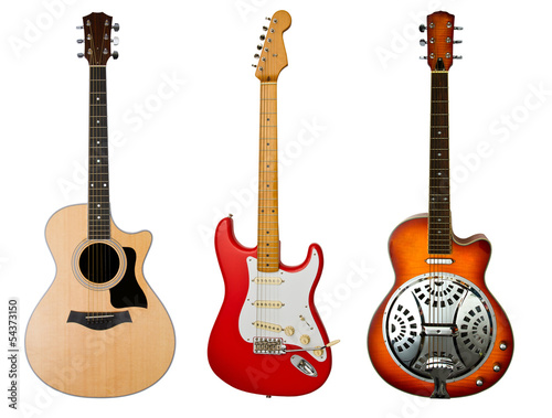 electric acoustic guitar and dobro