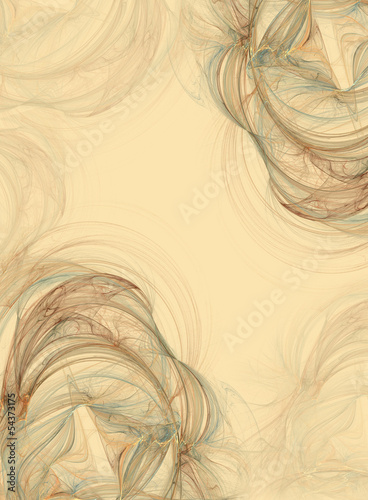 Abstract fractal vintage background in beige brown  colors