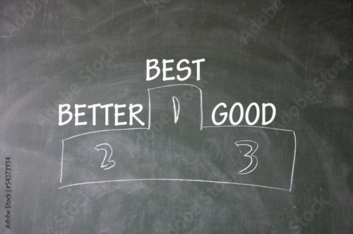 best、better and good symbol