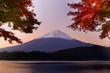 Mt. Fuji at Dawn in the Autumn
