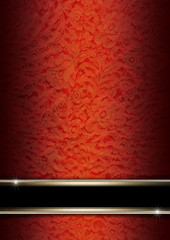 Luxury Floral Orange and Red Background