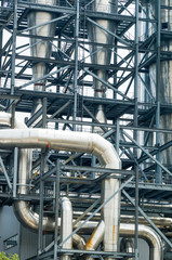Industrieanlage, Edelstahlrohre