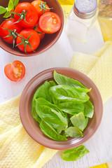 basil and tomato
