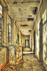 Corridor in an abandoned barrack