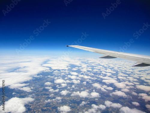 aeronave y ala en altura