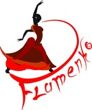 Logo with a flamenco dancer