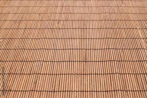 Bamboo straw background mat