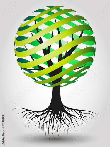 Abstract Vector Eco Tree