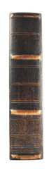 Old book spine isolated