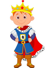 Kid with king costume