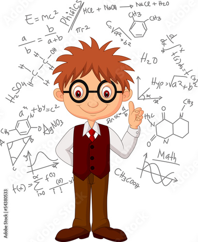 Smart boy cartoon