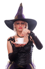 Witch put magic powder in the coffee