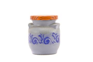 ceramics spicery bottle isolated on white