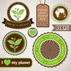 Набор экологических этикеток