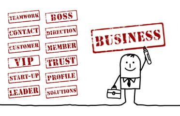 businessman & words