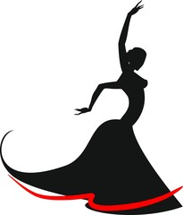 Silhouette of flamenco dancer