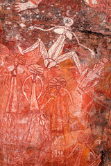Aboriginal rock art, Nourlangie, Kakadu National Park