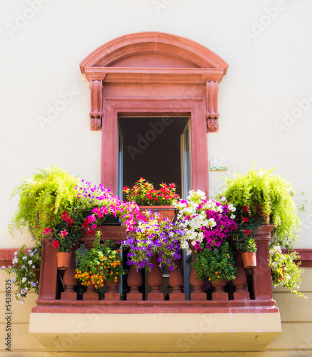 canvas print picture Balcone in fiore